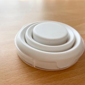 【セリア】防災用に買ってきたモノトーンの収納キャップ付きコップ♪