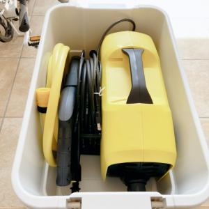 【無印良品】ケルヒャーの高圧洗浄機・園芸用品・金魚水槽洗いセット用に購入した収納アイテム!