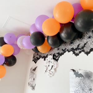 【100均】ハロウィン飾り!バルーンガーランドで華やかに♪