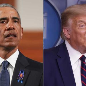 オバマ氏が強い言葉で警告。分断混乱の人々に言葉を伝える。