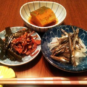 秋刀魚の煮つけ♪セロリ葉炒め♡コタツだす☆