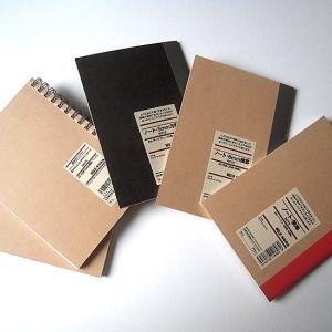 無印用品で、手帳カバー用のノートを買いました