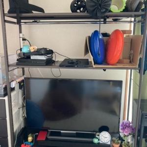 テレビ周りを整頓してみた。
