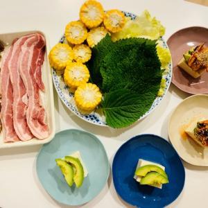 おうちサムギョプサル。Jun's Butcheryの豚バラで。