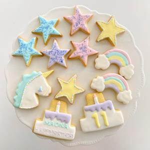 お誕生日クッキー☆今年はユニコーンクッキー