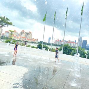 Kallang散策、スポーツハブと水遊び。