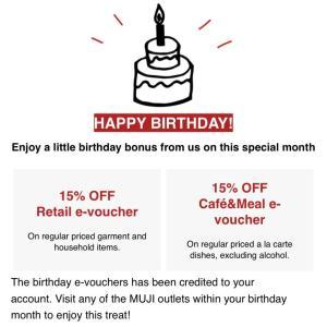 シンガポール MUJI Cafe で15%オフ。