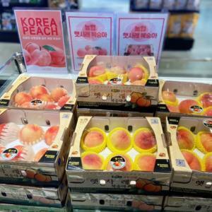 韓国桃のおいしい季節がやってきた♡