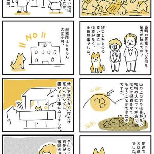 【犬漫画】阪神淡路大震災でトラウマを抱えた柴犬