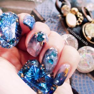 【NAIL】密造宝石を追え【ダイヤモンド&宝石ネイル】