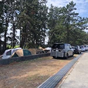 富山県朝日町 海浜公園キャンプ場 2018
