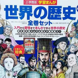 小学生から世界史に注目!最新版「小学館の世界の歴史」セットを買いました