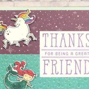 バイバイ仲良しのお友達。7歳弟くんはカードで感謝の気持ちを伝えます。また会おうね!