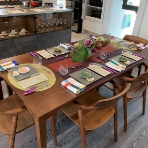 念願の東京料理教室開催しましたーテーブルなどの図