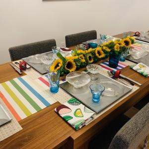 今月の料理教室のテーブルコーディネート