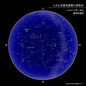 5日夜明け前が流星群観察に一番良いそうです