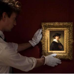 レンブラントの自画像、19億7千万円で落札される