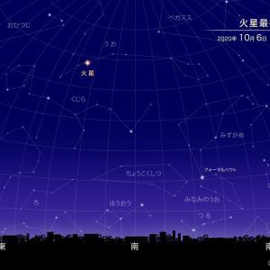 今月6日は火星が最接近!見えますよ。