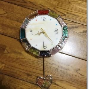 旅先で手作りした時計が届きました