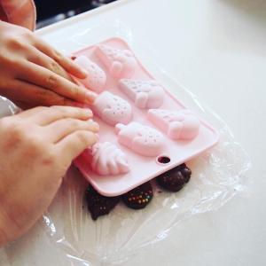 娘とお菓子作り&ポチレポ♪ 春色ヘアアクセと小学生の時間管理グッズ、半額商品などなど