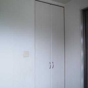 *収納*玄関収納 キックボードやホッピング、空気入れなど長いモノの置き場所確保