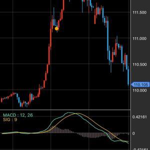 ドル円の動き 2月24日~25日