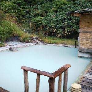 どこかにマイルで女ひとり旅、初秋の秋田の旅⑤ 鶴の湯名物の混浴露天風呂はやっぱりサイコーだった。