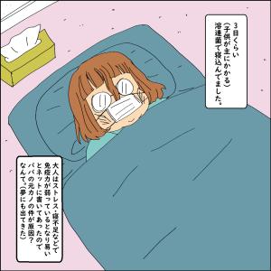 日常漫画『溶連菌で寝込んでました』