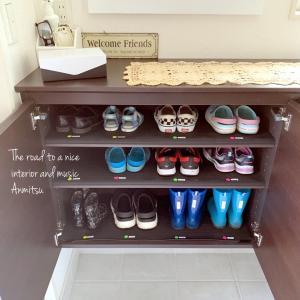 子供の靴はもっとミニマル!定数管理で分かりやすさ重視★