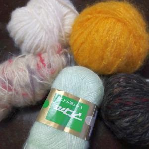 理想のらーめんと222編みで余り糸を使い切り♡