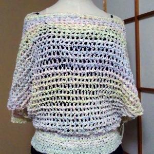 千円で編めちゃうテープヤーンのサマーセーター♡