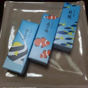 夏の和菓子、浮世絵とレース編み