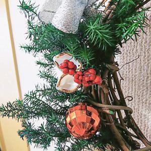 手作りのクリスマスリース