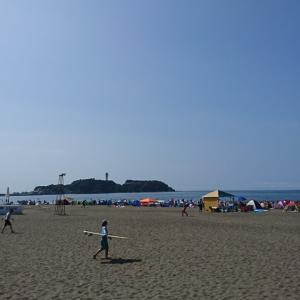 大洗に続き、こちらも毎年恒例になりつつある鵠沼海岸へ行ってきました♪