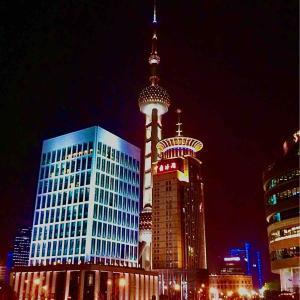 旅の空 @ 中国(中華人民共和国)上海(シャンハイ) 「上海外灘(バンド)の夜の空」