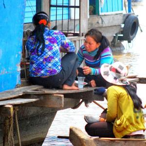 世界の市場(マーケット)から @ カンボジア・トンレサップ湖 「湖上のマーケット」