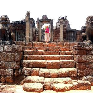 旅の空 @ カンボジア・シェムリアップ 「アンコール・ワット遺跡群 プレループ (Pre Rup、ពីមុន)周辺の空