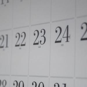 期末テストまでの週末(自由な時間)はあと何回?