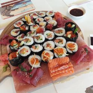 友人宅で寿司パーティー♪
