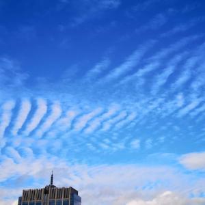 震災後9年、14:46に現れた奇跡の虹 in 東北♪ こちらはあばら雲でした