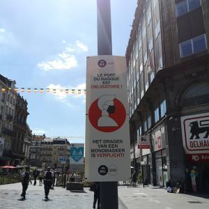 今日からブリュッセル中心部もマスク着用義務化開始