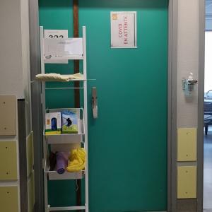 検査入院先のお向かいはコロナ疑い患者さんのようです