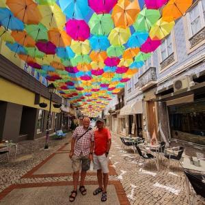 カラフルな傘のアーケード♪ in アゲダ