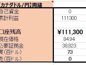 3/4【口座残高更新】カナダドル両建編