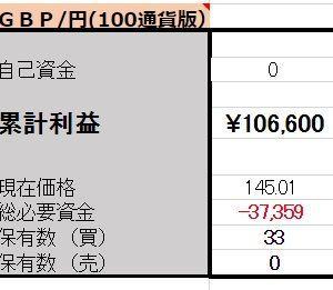 3/11【口座残高更新】ポンド両建編