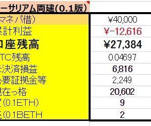 4/8【口座残高更新】仮想通貨FX両建編