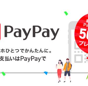 ペイペイに新規登録&銀行口座登録で1000円分のポイントがもらえる!