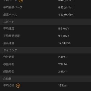 2019 9月22日 24km坂道ラン