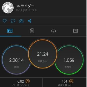 2019 10月14日 21km坂道ラン