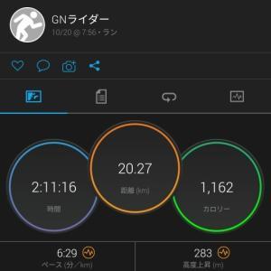 2019 10月20日 20km坂道ラン